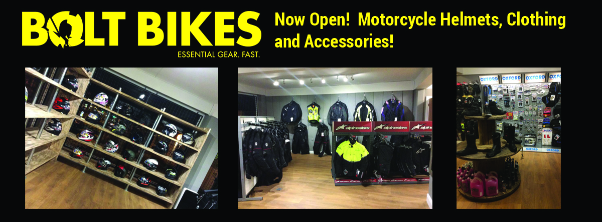 Bolt Bikes - Motorcycle Helmet, Clothing and Accessories shop in Bexhill, East Sussex.